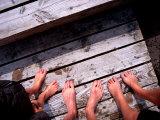 Detail of Feet on Bellevue Strand  Klampenborg  Klampenborg  Copenhagen  Denmark