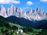 Santa Maddalena with Mt Odle  Dolomites  Sciliar Natural Park  Trentino-Alto-Adige  Italy