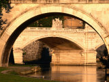 Ponte Vittorio Emanuele II through Arch of Ponte Sant'Angelo  Rome  Italy