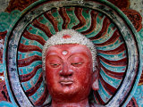 Buddha Statue in Cave No 5  Haystack Mountain Grottoes  Maiji Shan  Gansu  China