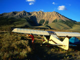 Pilot of Ultralight Plane Taking Camping Excursion  Near Borah Peak  Idaho