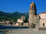 Harbor  Notre Dame des Anges Church  Collioure  Languedoc-Roussillon  France