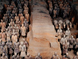 Life Size Terracotta Soldiers in Battle Formation  Xi'an  Shaanxi  China