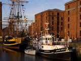 Ships Moored at the Mersey Maritime Museum  Albert Dock  Liverpool  England