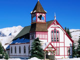 Union Congregational Church in Snow  Crested Butte  Colorado