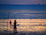 Boy Playing Goal Keeper in Soccer Game on Beach  Ao Nang  Krabi  Thailand