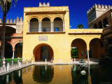 Mercury's Pool in Gardens of Reales Alcazares  Sevilla  Andalucia  Spain