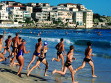 Surf Lifesaver Training at Bondi Beach  Sydney  New South Wales  Australia