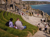 Minack Theatre Carved into the Cliffs Overlooking Porthcurno Bay  Minack  Cornwall  England