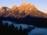 Grand Teton at Sunrise  from Snake River Overlook  Grand Teton National Park  Wyoming