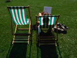 Deck Chairs in Hyde Park  London  Greater London  England