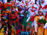 Folk Dance Group Preparing for Parade at Annual Feria de la Chinita  Zulia  Venezuela