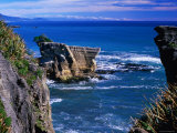 Rocky Coastline at Dolomite Point  Paparoa National Park  New Zealand