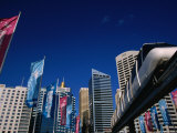 The Monorail at Darling Harbour  Sydney  New South Wales  Australia