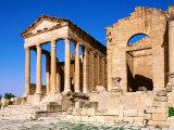 Remains of Roman Temple  Sbeitla  Kairouan  Tunisia