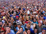 Pop Concert Crowd from Stage at Enga Cultural Show  Wabag  Enga  Papua New Guinea
