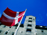 Dannebrog  The Danish Flag  In Front of Admiral Hotel  Copenhagen  Denmark