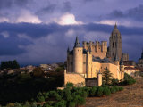 Alcazar on Stormy Day  Segovia  Castilla-Y Leon  Spain