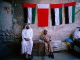 Vendors Sitting in a Bazaar  Dubai  United Arab Emirates