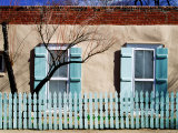 House Facade on Canyon Road  Santa Fe  New Mexico