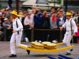 Cheese Market Activity  Alkmaar  North Holland  Netherlands