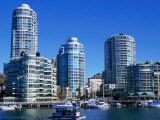 Apartments Seen Across False Creek from Granville Island  Vancouver  British Columbia  Canada