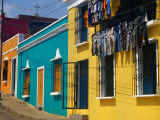 Brightly Painted Houses in Historic Centre of City  Ciudad Bolivar  Bolivar  Venezuela