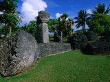Latte Stones at Taga House  San Jose  Tinian Island  Northern Mariana Islands
