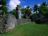 Latte Stones at Taga House  San Jose  Tinian Island  Northern Mariana Islands
