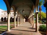 Columnaded Arcade of Pima County Courthouse  Tucson  Arizona
