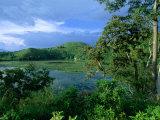 Kifurka Crater Lake Near Fort Portal and Kibale Forest  Fort Portal  Kabarole  Uganda