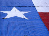 Texas Flag Painted on Barn Roof  Austin  Texas