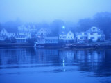 Boothbay Harbor  Houses in Morning Fog  Boothbay  Maine