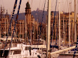 Yacht Masts at Marina  Barcelona  Catalonia  Spain