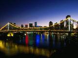 Story Bridge and City Skyline at Night  Brisbane  Queensland  Australia