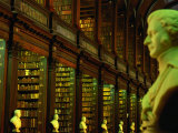Bust in Longroom of Old Library in Trinity College  Dublin  Leinster  Ireland