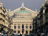 Opera from l'Avenue de l'Opera  Paris  Ile-De-France  France