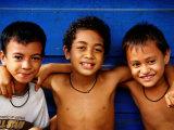 Three Young Boys  Upolu  Samoa