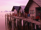Stilt Houses at Dusk  Ko Panyi  Phang-Nga  Thailand