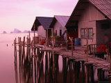 Stilt Houses at Dusk  Ko Panyi  Phang-Nga  Thailand