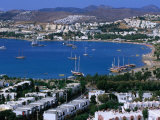 View of Town and Harbour  Bodrum  Mugla  Turkey