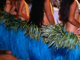 Row of Dancers  Rarotonga  Southern Group  Cook Islands