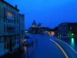 Canal from Accademia at Dusk  Venice  Italy