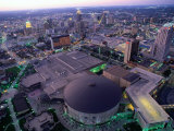 City at Twilight from Tower of the Americas  San Antonio  Texas