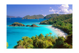 Trunk Bay Panorama  Saint John  US Virgin Islands