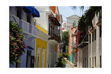 Colorful Street  Old San Juan  Puerto Rico