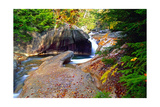 Cascading Creek of the Basin  Franconia Notch  NH
