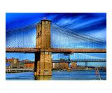 Brooklyn Bridge & Deep Blue Skies