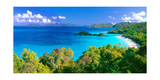 Panoramic View of Trunk Bay  St John  USVI