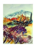 Watercolor Provence Landscape 080507